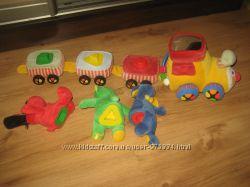 Продам мягкий паровозик-сортер с вагонами KS Kids