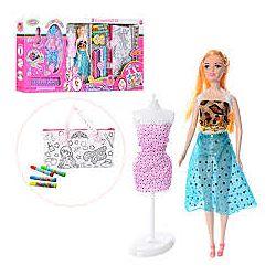 Набор кукла сумка раскраска, фломастеры, манекен, аксессуары.