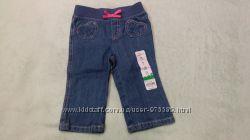 Летние джинсы на девочку 6-12 месяцев