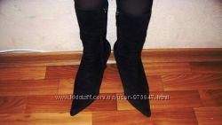 натуральные замшевые польские ботиночкиботинки