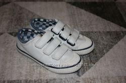 Белые туфли мокасины Next размер 10 на 28