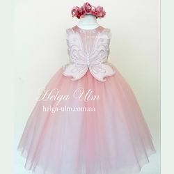 Пышное нарядное платье для девочки Бабочка - РУЧНАЯ РАБОТА. Под заказ