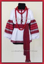 Туника-блуза детская с вышивкой и натуральным кружевом Грушка