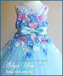 Нарядное пышное платье Вальс цветов. Под заказ для девочки от 104 размера