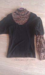 блузка комбинированная