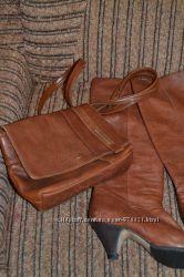 Сапоги кожаные осенние  сумочка есть нюанс