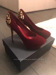 Туфли Sergio Rossi Италия Новая коллекция  Будь модной модный велюр сверху