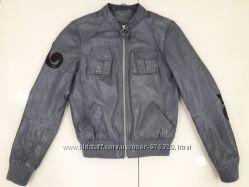 Куртка бомбер Naf Naf Италия натуральная кожа Новая коллекция, Будь модной
