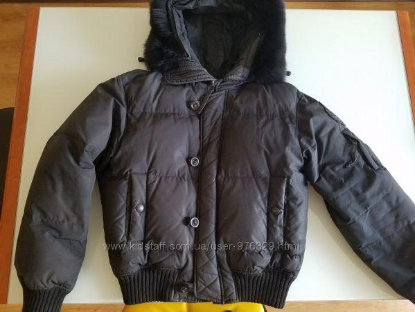 Куртка пуховик Gianfranco Ferre Италия натур пух и мех Новая коллекция Будь