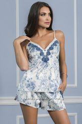 коллекция итальянского белья пеньюаров МИА МИА - коллекция BLUE ROSE