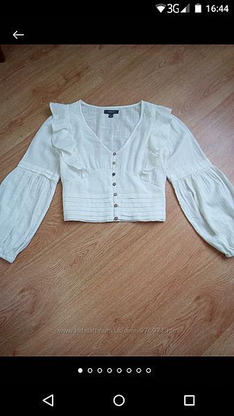 Шикарнейшая натуральная блуза из тонкого хлопка primark.