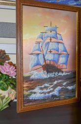 Картина из чешского бисера  Парусник
