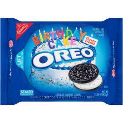Печенье Oreo Chocolate Sandwich Cookies Birthday Cake из США