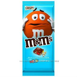 Шоколад M&M&acutes Crispy & Minis Milk Chocolate Candy Bar из США
