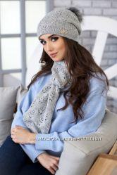 Новая коллекция зимних комплектов шапка и шарф с гарантией 3 месяца