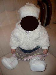 Нереальная шубка кремово-белая в идеале Cherokee на рост 80 см
