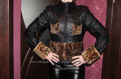 Кожаная натуральная куртка 44-46 размер
