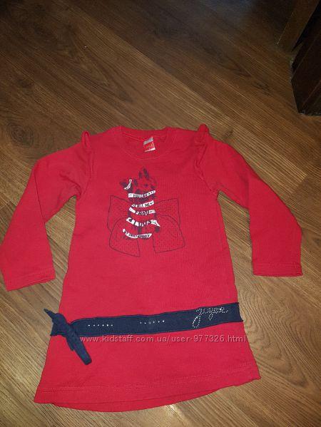 Флисовое теплое платье на  1, 5-3 года