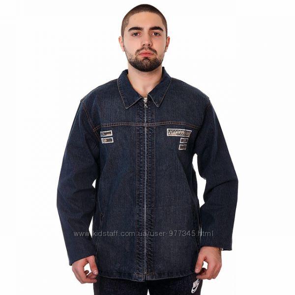 Рубашка, куртка Джинсовая Класического покроя, Хорошее Качество, р. М - Л