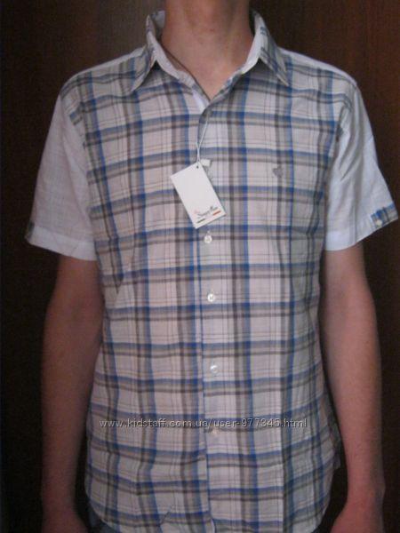 Модная Летняя Новая Мужская Хлопковая Рубашка с коротким рукавом р С- М