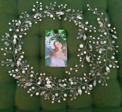 Свадебные аксессуары гребень бутоньерка веточка шпильки