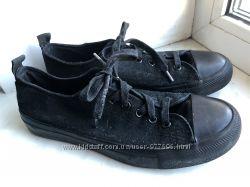 Крутые мокасины туфли кеды натур ткань для мальчика 38 р