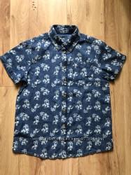 Очень красивая новая джинсовая рубашка для парня 10-12 лет