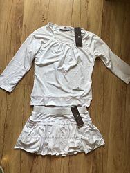 Adidas оригинал комплект прогулочный юбка блуза по цене одной вещи