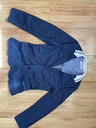 Синий трикотажный пиджак  Street Gang Италия