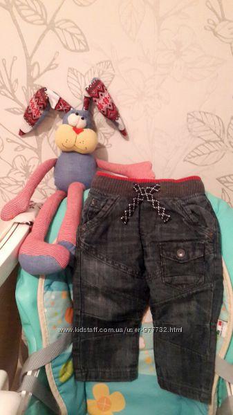 Утепленные джинсовые штанишки Next на маленького джентельмена