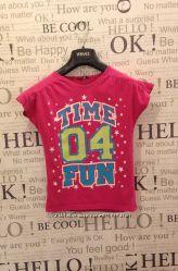 Яркая стильная футболка на 9-10 лет