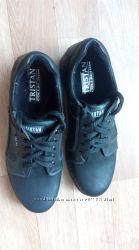 теплые кожаные туфли