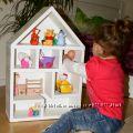 Домик для кукол  Кукольный домик  Домик-стеллаж