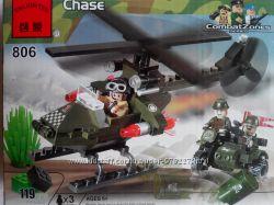 Конструктор Погоня Вертолет и мотоцикл из серии Combat Zones