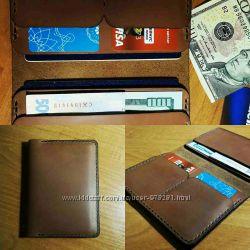 Мужской кошелек, портмоне из натуральной кожи ручной работы