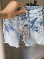 Шорты джинсовые Zara на 2-3-4 года