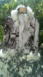 Курточка с мехом песца