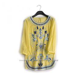 нарядная блузка с вышивкой