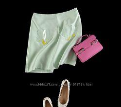 Мятная модная юбка на лето
