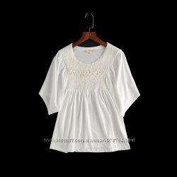 блузка летняя белая
