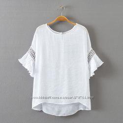 Блузка белая красивая