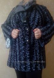 Осенне-весеннее пальто из искусственного каракуля ТМ Ricco