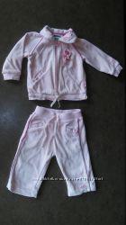 Флисовый велюровый костюм Motion baby набор на девочку, р. 68, 6-9 мес.