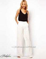 белоснежные брюки лен италия