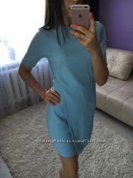 супер стильное платье цвет кукольный голубой