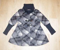 Пальто EasyComfort стильное дорогое Германия шерсть мохер серое М 46