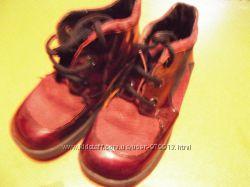 Ботинки р. 26 утепленые, лак, кожа, замш