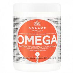 Маска для волос Kallos Omega с комплексом Омега-6 и маслом макадамии 1л Кие