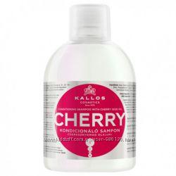 Шампунь-кондиционер для волос Kallos Cherry с маслом вишневых косточек 1л