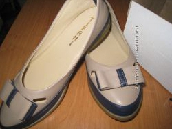 Удобные туфли-балетки кожа